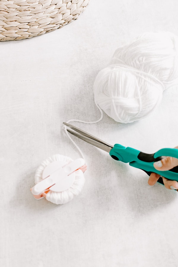 Use these sharp scissors when making pom poms