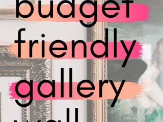 How to Make a Cheap Gallery Wall - 5 Must-Know tips! - Create a stylish gallery wall on a budget. Get these 5 must-know tips for creating a cheap gallery wall.