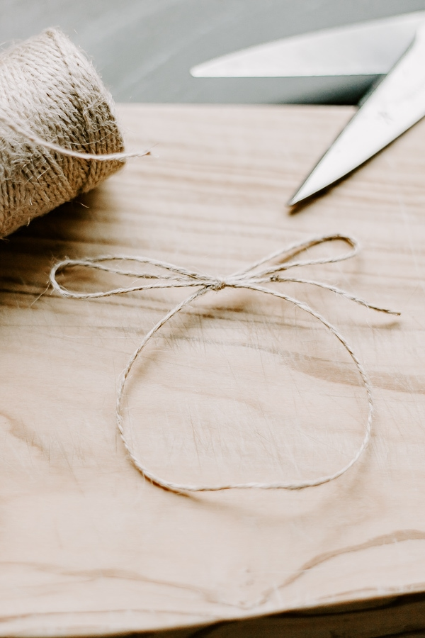 Make a Loop with jute twine