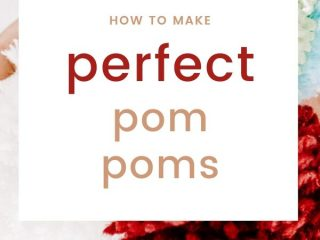 How to Use a Pom Pom Maker for Perfect Pom Poms - An in-depth tutorial with photo instructions for how to use a pom pom maker.