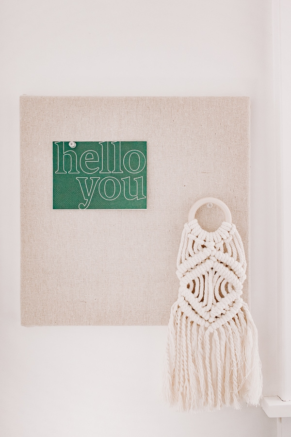 Use a ring for easy hanging of your mini macrame wall hanging