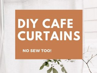 DIY Cafe Curtains - Full Tutorial and No Sew Version!