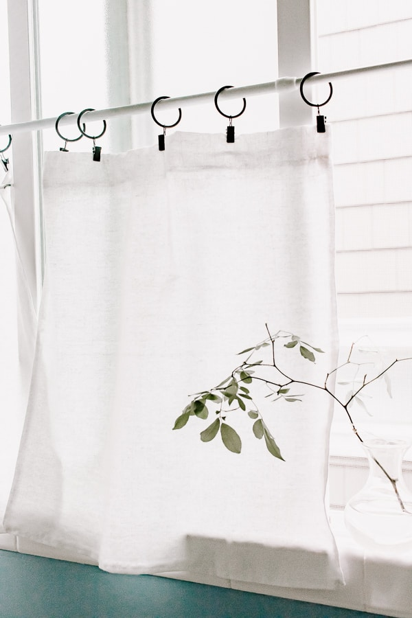 how to make cafe curtains for bathroom