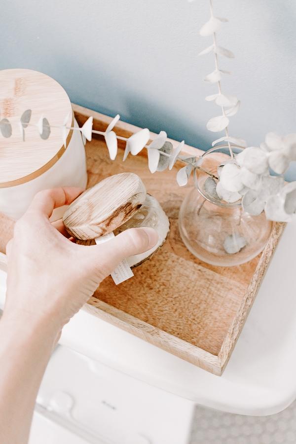 pretty accessories in bathroom