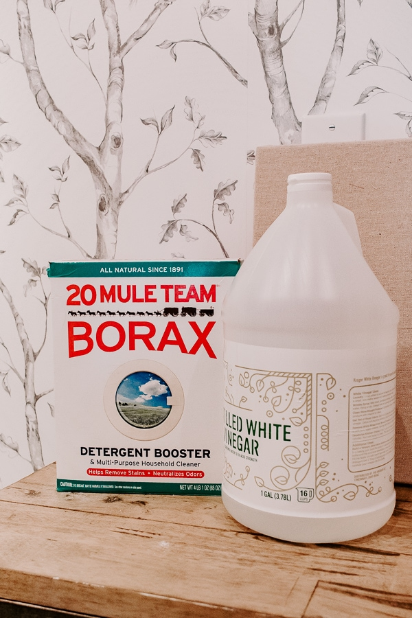 borax and vinegar for laundry