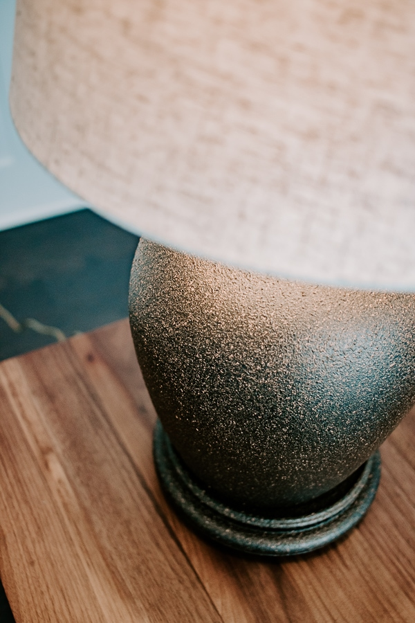 textured stone effect lamp base makeover