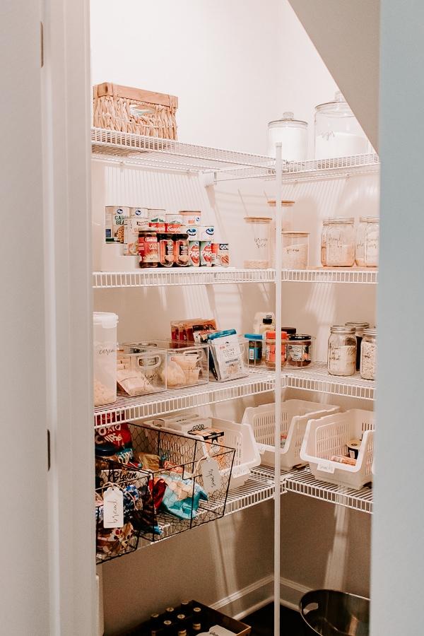 walk in pantry organized