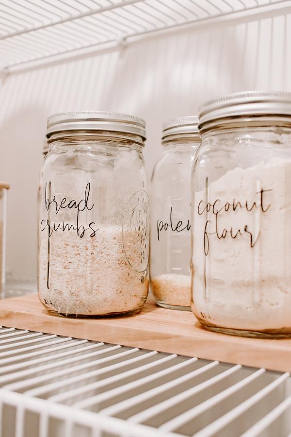 up close view of mason jars