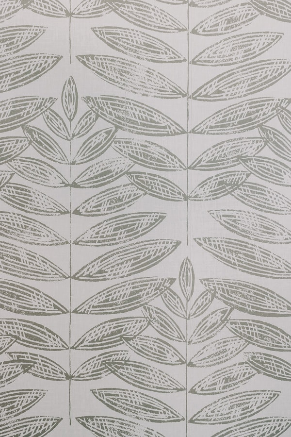 close up of a leafy pattern peel and stick wallpaper, black and white