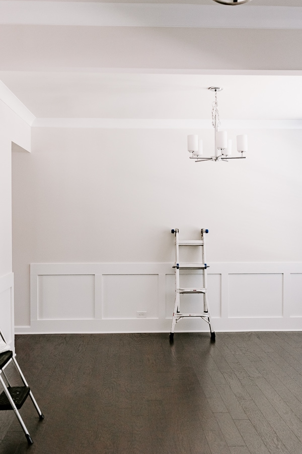 ladder in an empty room