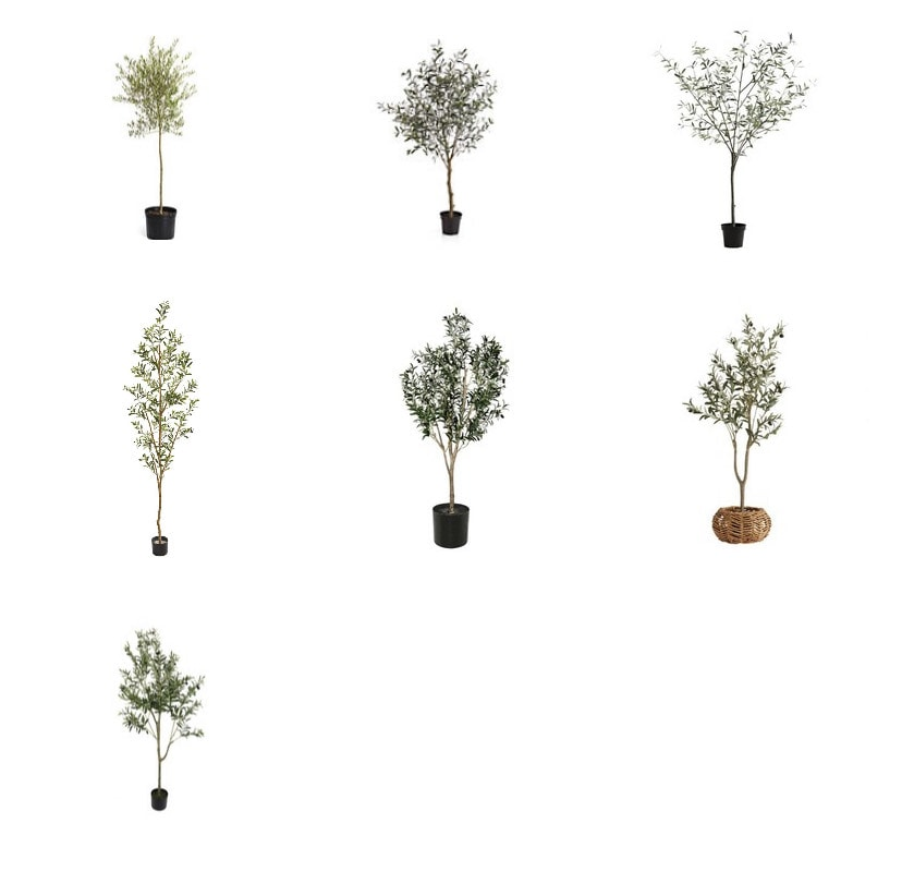 photos of faux olive trees for sale