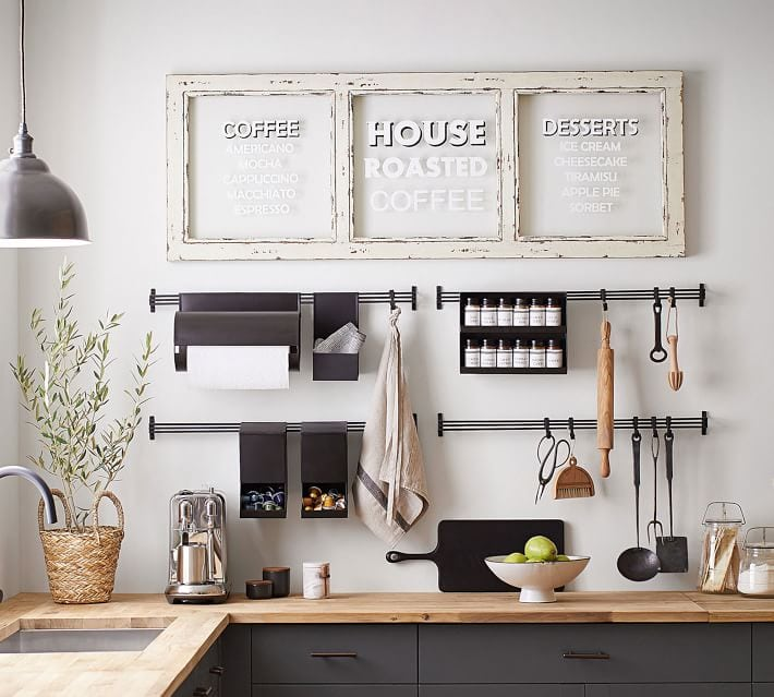 pottery barn coffee station ideas