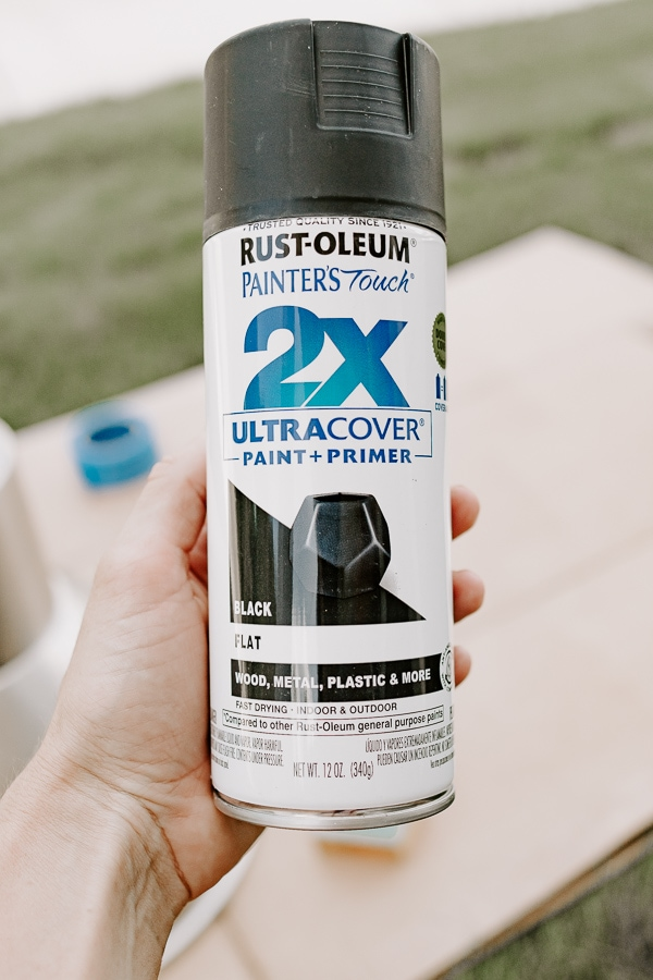 Rustoleum paint and primer in flat black