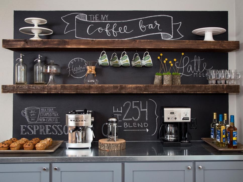 11 Coffee Station Ideas:  The Best Part of Waking Up - Be inspired by these gorgeous coffee station ideas and create your own coffee bar at home!