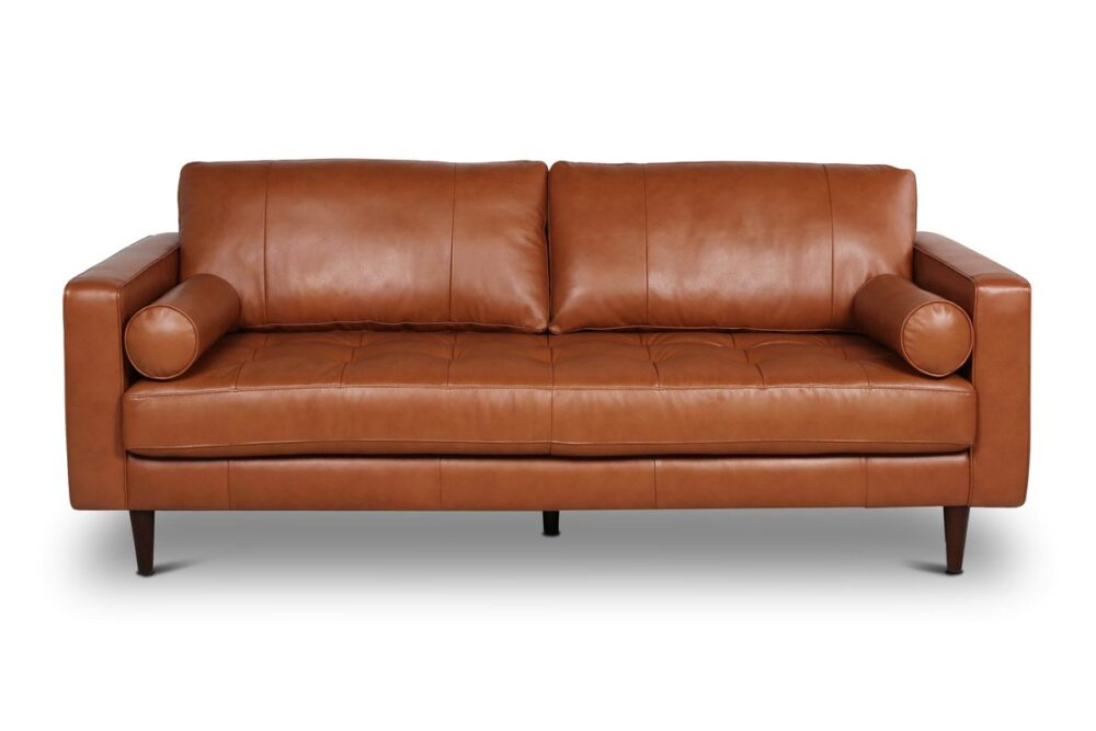 affordable leather couches - Jensen