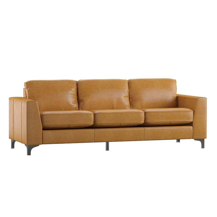 Bastian Leather Sofa - Overstock - and affordable genuine leather couch
