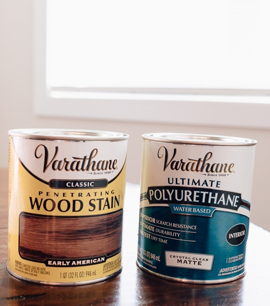 wood stain and polyurethane