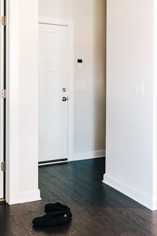mudroom nook - before we installed the bench