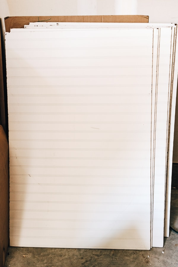 photo of beadboard sheets