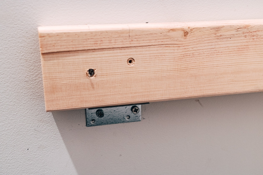 bench seat supports with metal braces