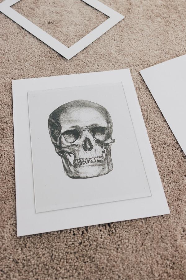 free halloween printables - skull wall art