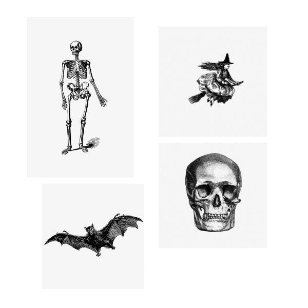 free halloween printables - halloween wall art