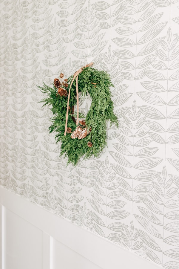 wreath hanging on a wall