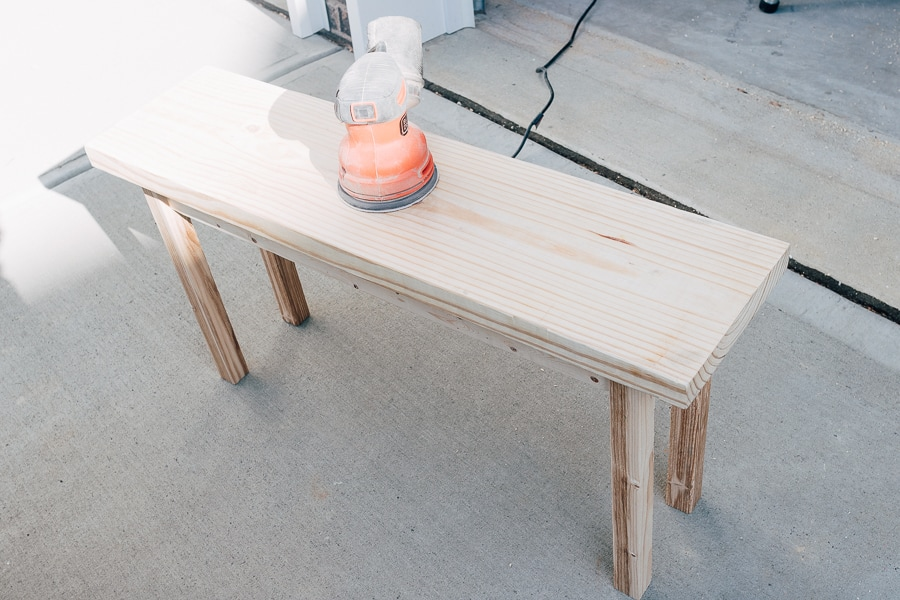 how to make a simple wood bench
