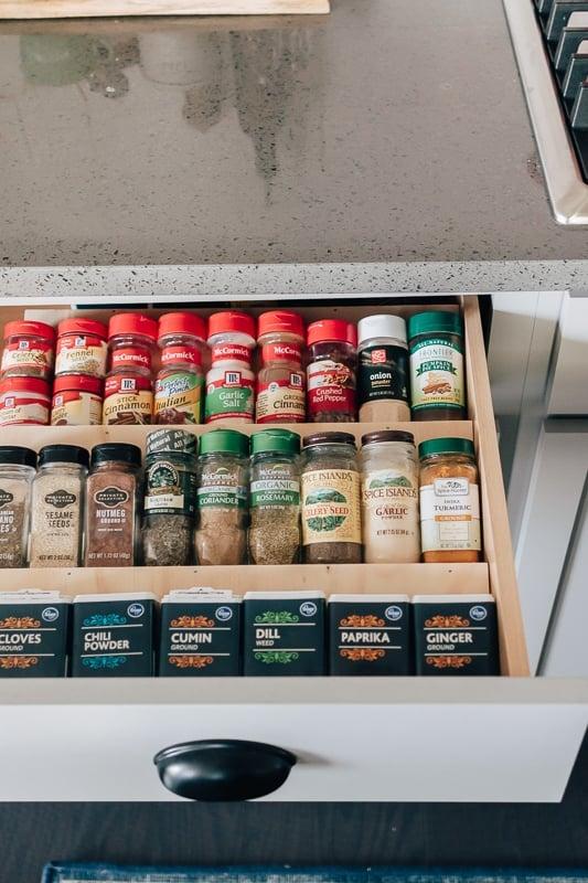 diy spice drawer organizer insert