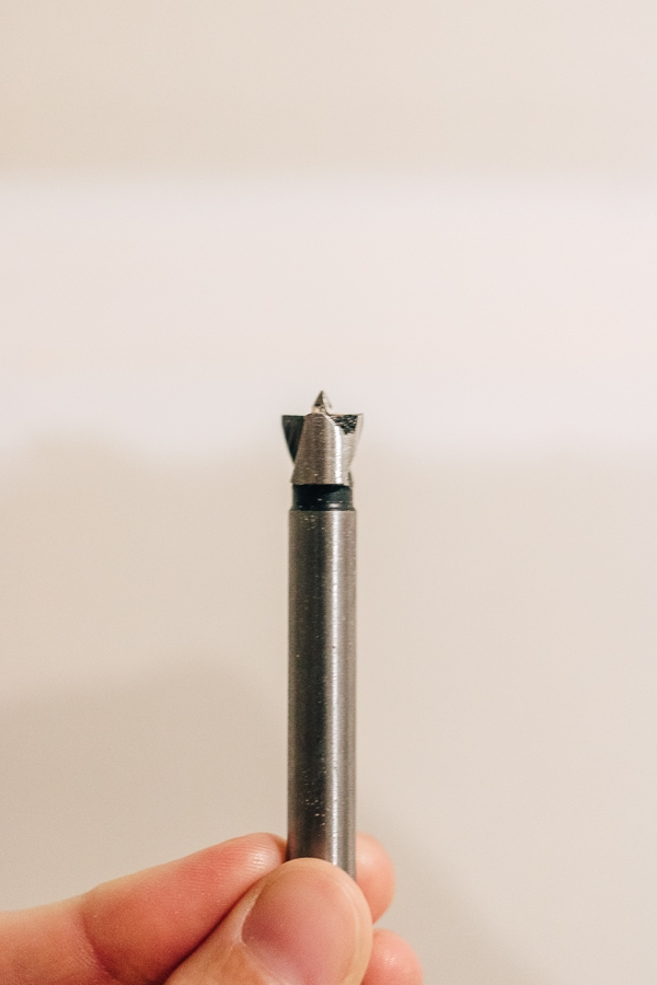 a close up look at a forstner drill bit