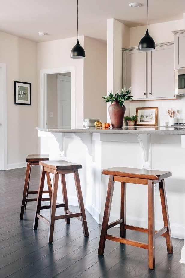 These wood stools are a great Amazon home decor find - love the rustic vibe. Get the link to these and more of my favorites in the post!