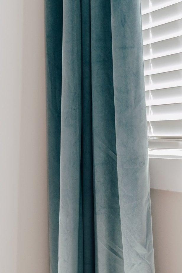 my favorite blue slate velvet drapes