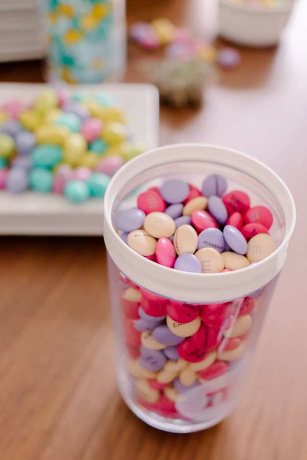 Personalized M&M candies for Happy Easter
