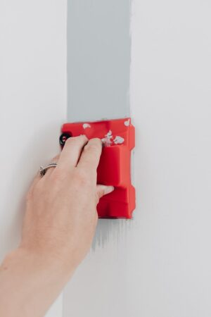 a paint edger on the wall