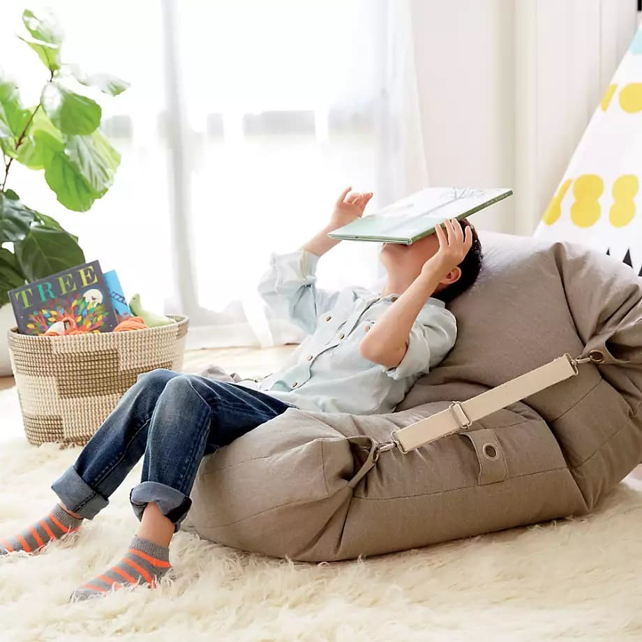 crate and kids bean bag chair