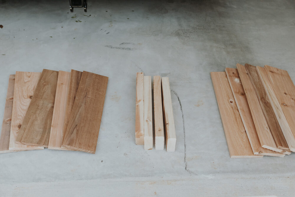 wood needed for a diy toy box - full tutorial in post