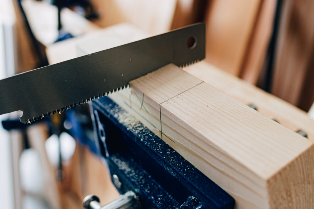 Cross Halving Joints for making a wood stool