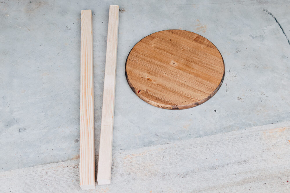 materials needed to make a wood stool