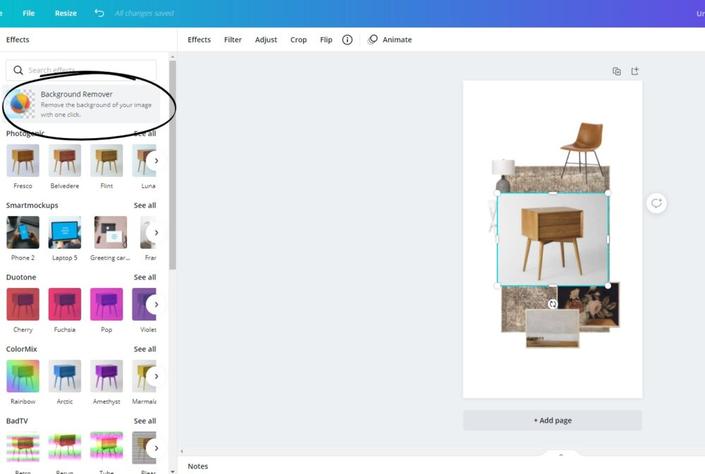 How to Remove the Background from your Images - Making a Mood Board Online