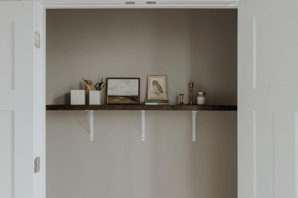 Hanging a Shelf in a Cloffice