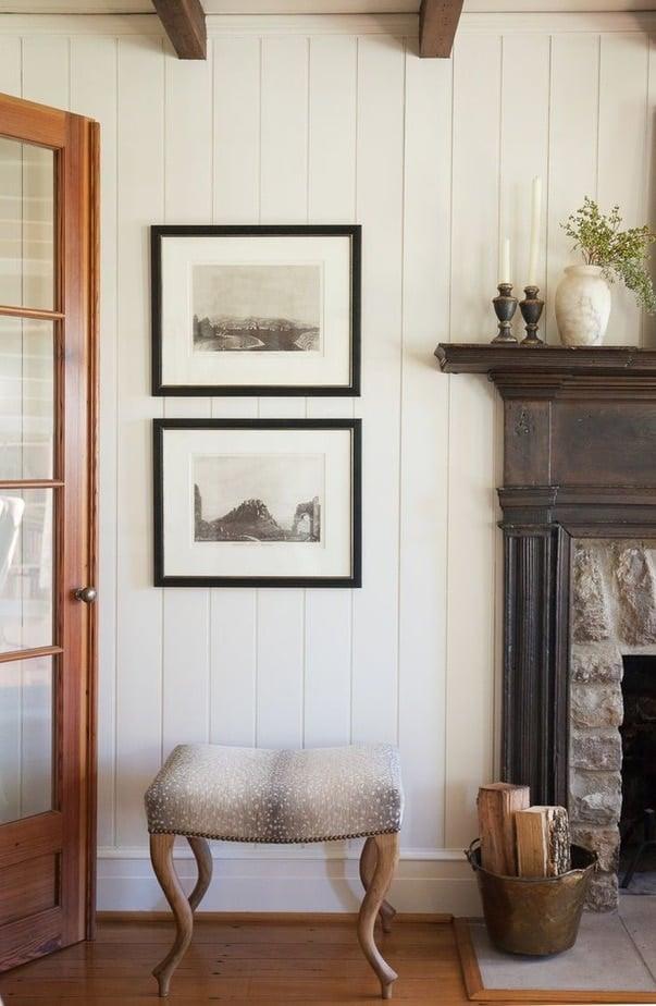 Best of Pinterst - shiplap walls next to fireplace