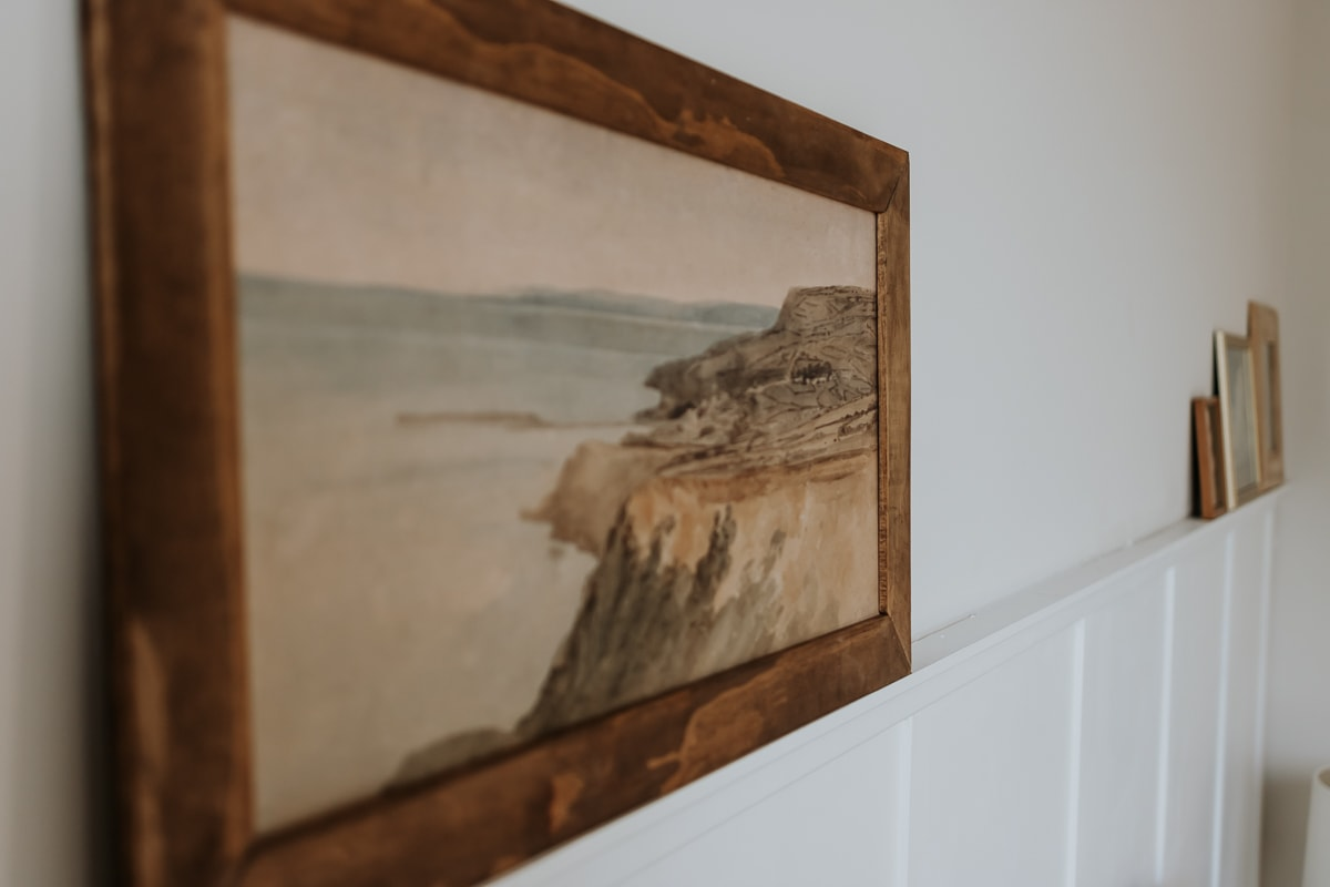 Above the bed art - see how to create your own - tips and tricks in post!