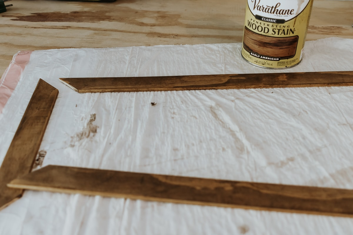 Staining a DIY Picture Frame