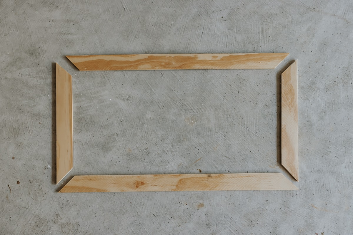 DIY Frame made from Pine wood