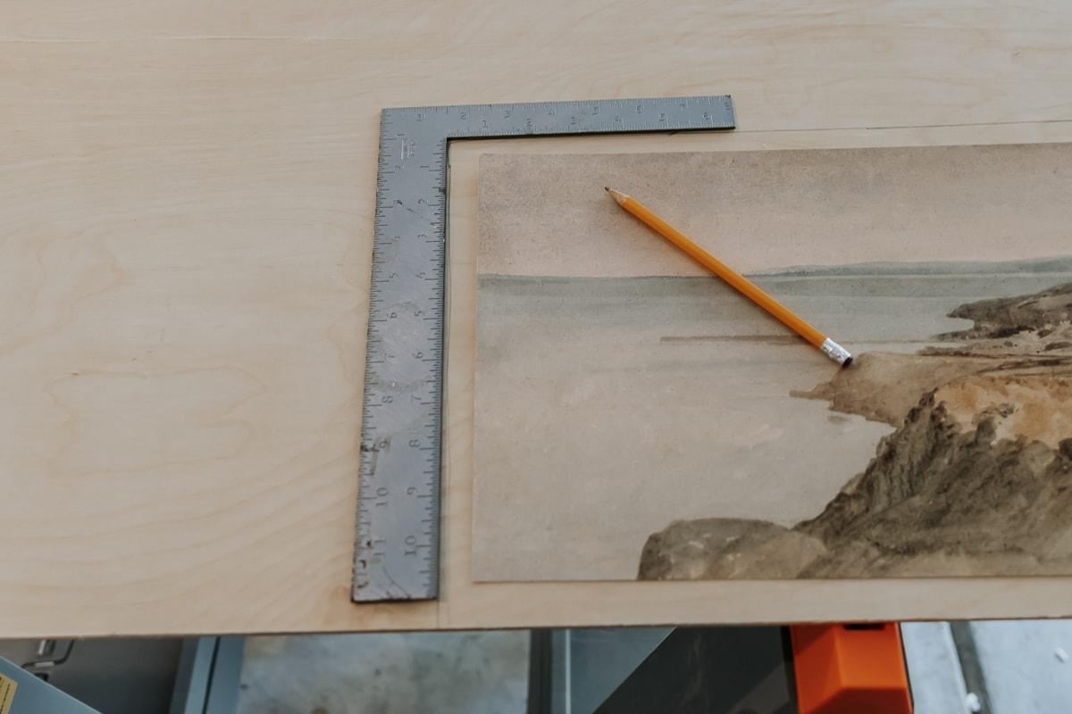 How to DIY Frame a Long Landscape Print