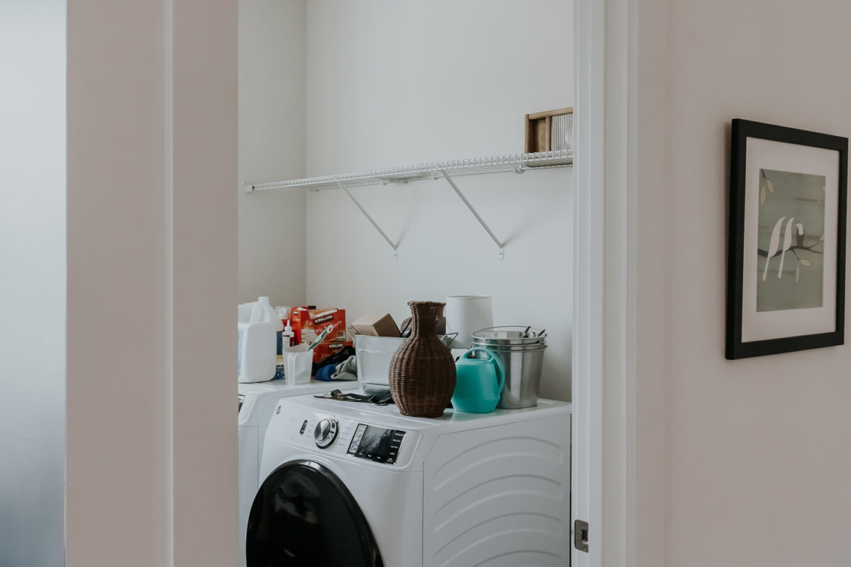 laundry room one room challenge the before